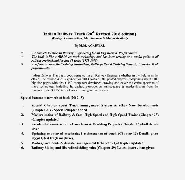 Railway Track, Railway Technical Books